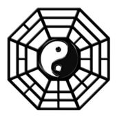 Chinese Ba Gua Octagon Yin Yang Symbol — Stock Photo