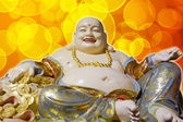 Big Belly Maitreya Happy Laughing Buddha Statue — Stock Photo