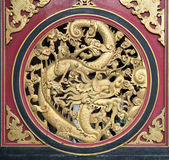 Wood Carved Chinese Dragon — Stock Photo