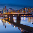Hawthorne Bridge Over Willamette River — Stock Photo #9254042