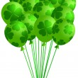Bunch of Irish Green Balloons with Shamrocks — Stock Photo