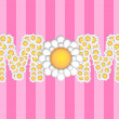 Happy Mothers Day with Daisy Flowers Pattern - Stock Photo