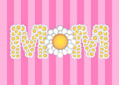 Happy Mothers Day with Daisy Flowers Pattern — Stock Photo