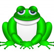 Cute Green Frog Illustration — Stock Photo