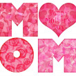 Stock Photo: Happy Mother's Day Mom Alphabet
