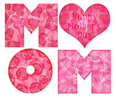 Happy Mother's Day Mom Alphabet — Stock Photo