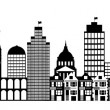 San Francisco City Skyline Panorama Clip Art - Stock Photo