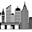 New York City Skyline Panorama Clip Art — Stock Photo