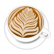 Royalty-Free Stock Photo: Cup of Latte Espresson Drink Illustration