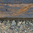 Railroad Track Closeup Background — 图库照片