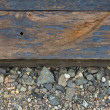 Railroad Track Closeup Background — Stock Photo