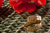 Wedding rings — Stockfoto