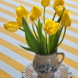 Stock Photo: Tulips in vase