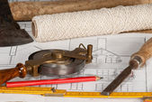 Plan with tools — Stock Photo