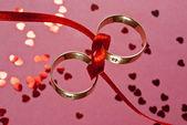обручальные кольца — Стоковое фото