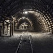 Underground tunnel in the coal mine — Stock Photo #10587604