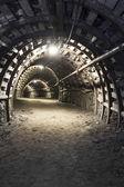 Underground tunnel in the coal mine — Stock Photo