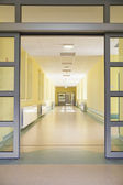 Entering a hospital — Stock Photo