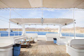 Upper Deck of Recreational Boat — Stock Photo