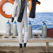 Diving Suits for Parent and Child — Stock Photo #8762101