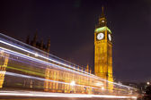 Houses of Parliament and Big Ben at Night, London — Stock Photo