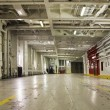 Empty car deck on ferry - Stock Photo
