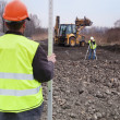 Royalty-Free Stock Photo: Building a road - Surveyors at work