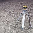 Stok fotoğraf: Setting out on construction site - geodesy