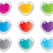 Royalty-Free Stock Vector Image: Buttons hearts