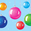 Christmas balls — Vector de stock #8057619