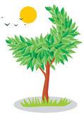Luna albero — Vettoriale Stock