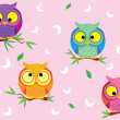 Background Owl — Stock Vector