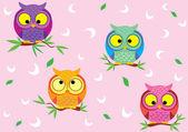 Background Owl — Stock Vector