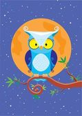 Owl night — Stock Vector