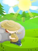 Agriculteur mignon — Photo