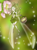 Pollination Fairy — Stock Photo