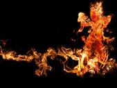 Burning girl — Stock Photo