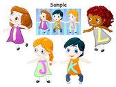 Modular children's letters — Stock Photo