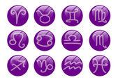 Zodiac buttons — Stock Photo
