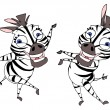 Funny zebras — Stock Photo