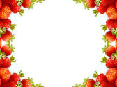 Strawberry frame — Stock Photo