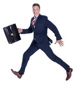 Running businessman — Stock Photo