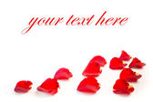 Rose petals border with space for the text — Stock Photo
