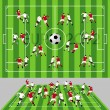 Royalty-Free Stock Vector Image: Football Field with Ball and Players
