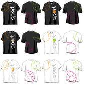 Sport T-shirts Designs Set — Stock Vector