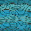 Seamless sea waves pattern - Stock Vector