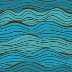 Seamless sea waves pattern — Stock Vector