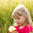 Girl with apple — Stock Photo #10677647