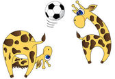 Giraffes-players — Stockvektor