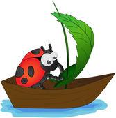 Ladybug mariner — Stock Vector